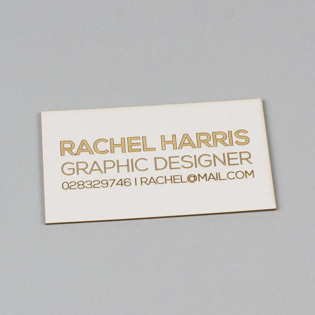 USA New Materials 10 - Coaster Board Business Card