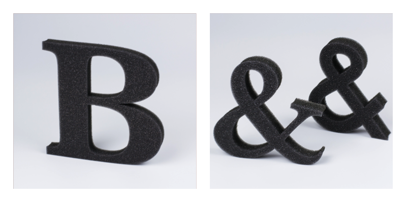 USA New Materials 4 - Polyurethane Foam Letters
