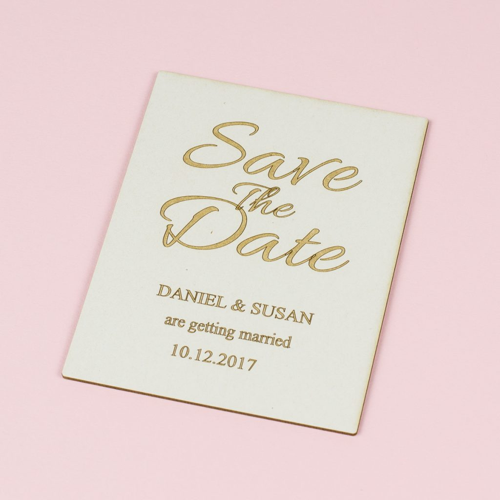 USA New Materials 7 - Coaster Board Save The Date