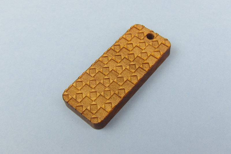 NZ Hardwood Macrocarpa 7 - Geometric Pattern Pendant
