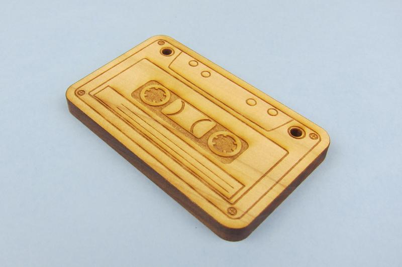 NZ Hardwood Macrocarpa 8 - Cassette Tape Pendant