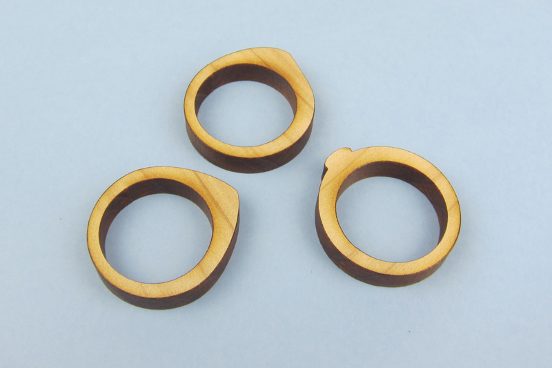 NZ Hardwood Macrocarpa 9 - Stackable Rings