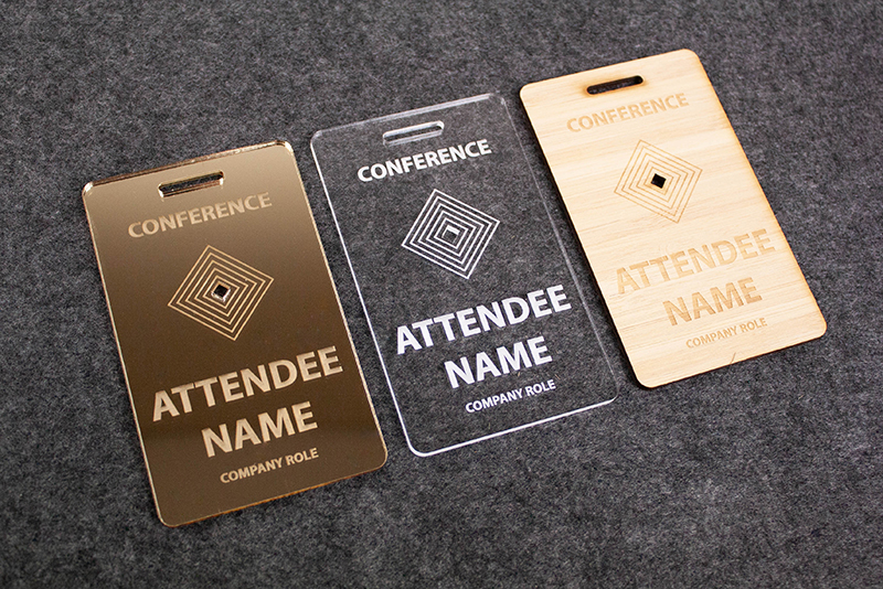 Name Badges 1 - Laser Cut Example