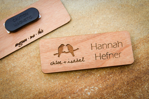 Name Badges 15 - EngraveMeThis Wood Name Tag