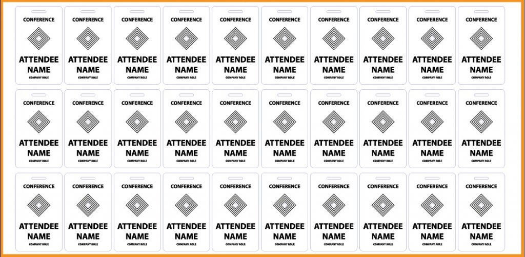 Name Badges 3 - Sample Sheet