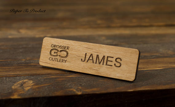 Name Badges 4 - PaperToProduct Wood Name Tag