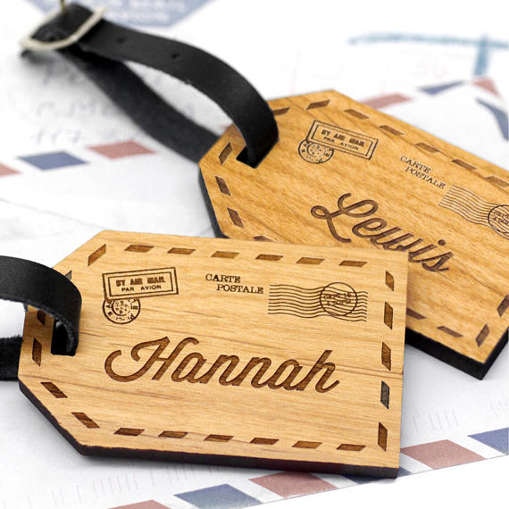 Name Badges 8 - MariaAllenBoutique Wood Luggage Tags