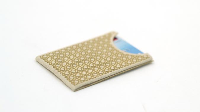creative promotional product ideas -Bone-Ultrasuede-Card-Case