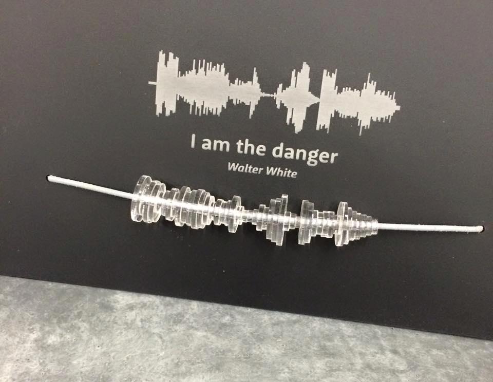 creative promotional product ideas - soundwave necklace