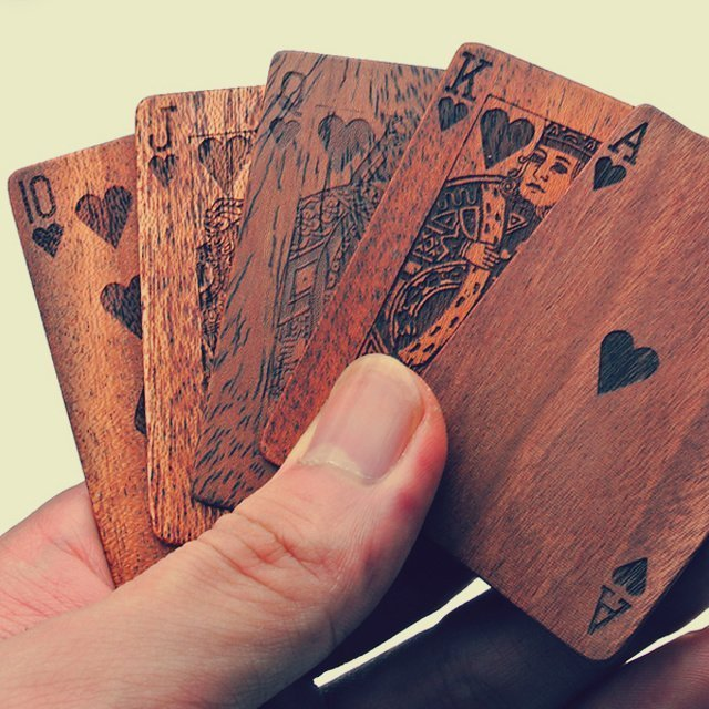 creative promotional product ideas - wooden playing cards