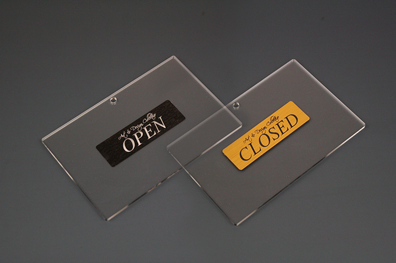 Acrylic Stickers NZ 7 - Double Sided Sign