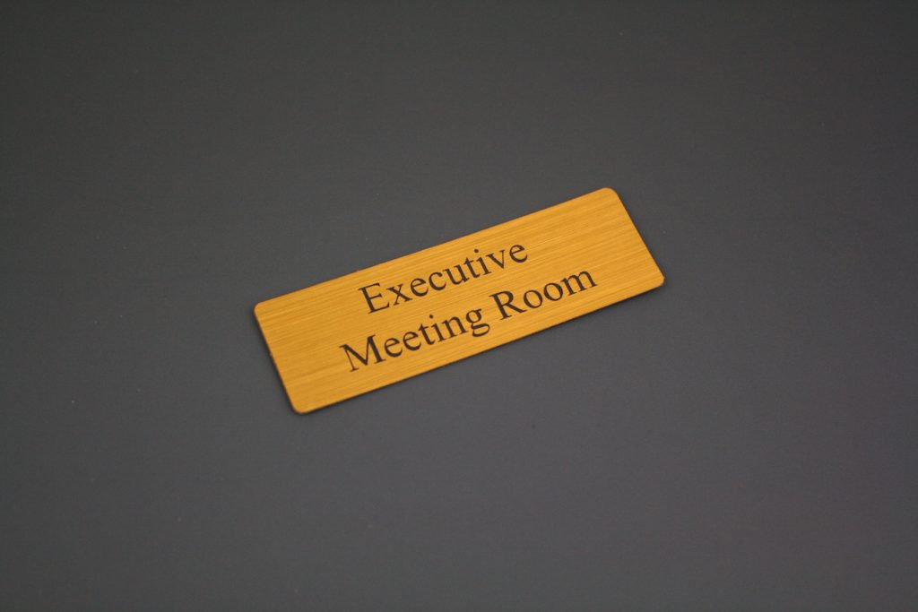Acrylic Stickers NZ 9 - Meeting Room Sign