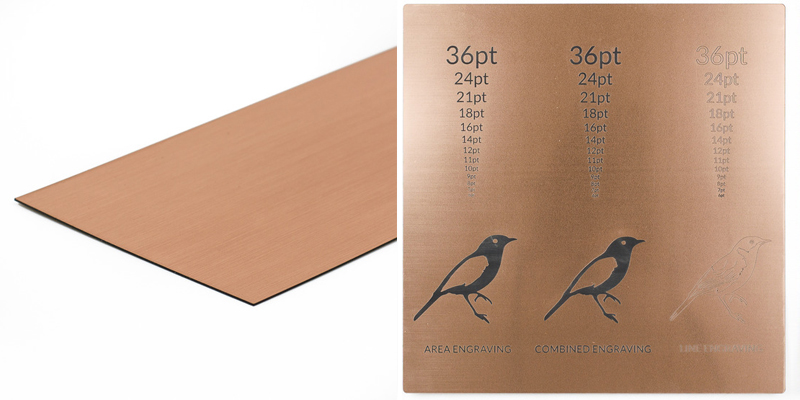 USA Acrylic Stickers 7 - Copper Adhesive Backed Plastic Sheet