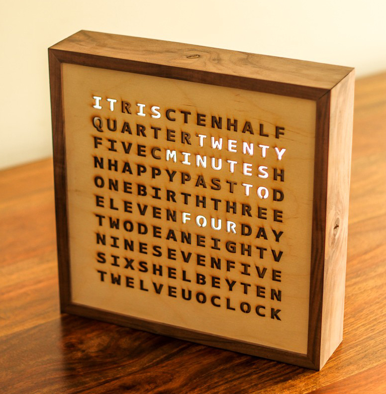 Make A Clock - Laser Cut Word Clock