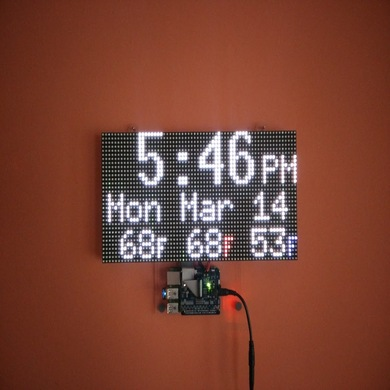 Make A Clock - RGB LED Matrix Wall Clock