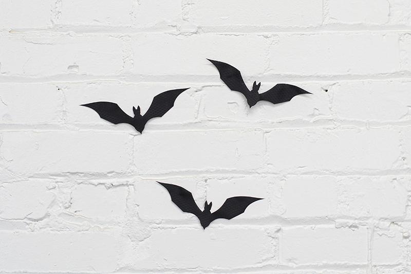 Ripstop Nylon USA 3 - Black Halloween Bats Decoration