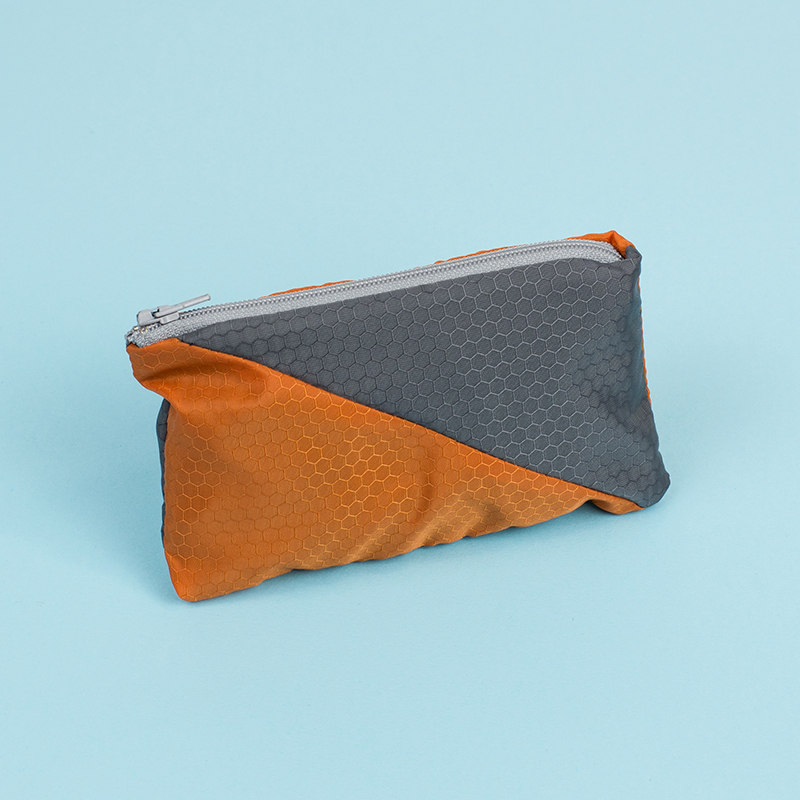 Ripstop Nylon USA 6 - Grey And Orange Pencil Case