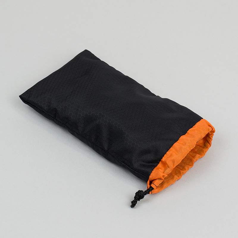 Ripstop Nylon USA 7 - Black And Orange Pouch