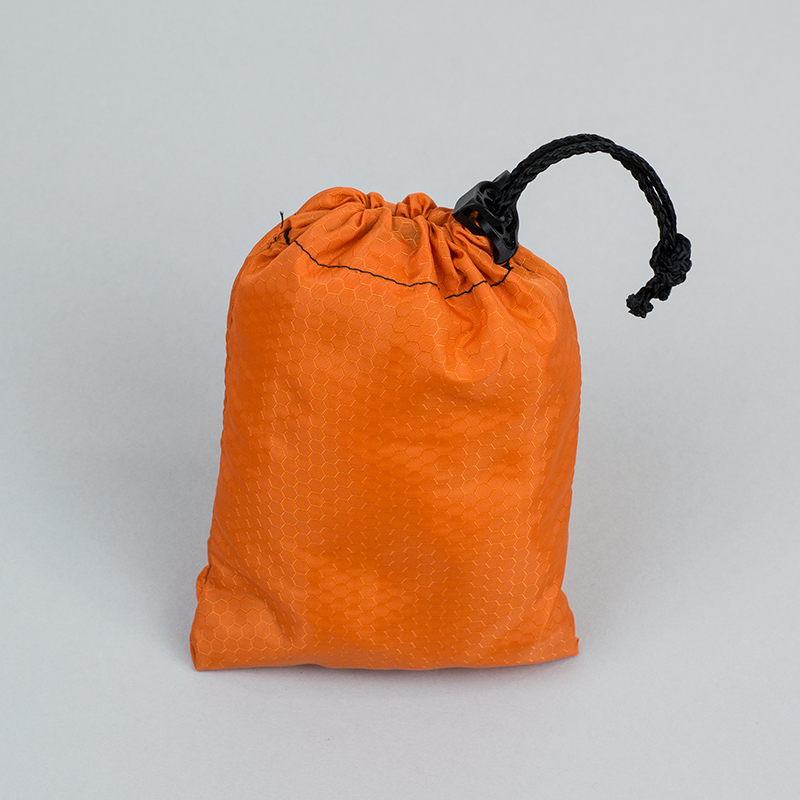 Ripstop Nylon USA 8 - Orange Drawstring Bag