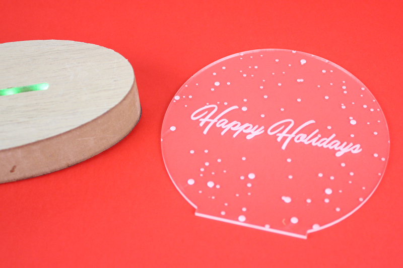 Holiday Deadlines - LED Edge Lit Decoration Flat Parts