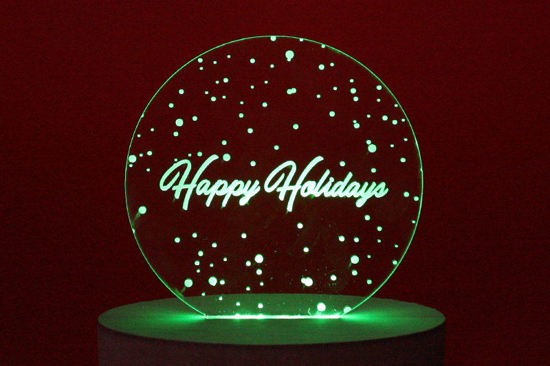 Holiday Deadlines - LED Edge Lit Decoration
