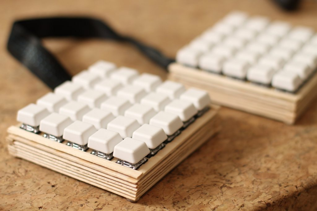 Laser Cut Split Keyboards 2 - cKeys Popsicle Sticks