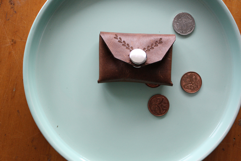 Mocha Upholstery Leather 5 - Coin Purse