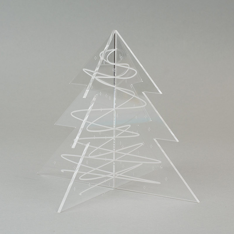 Recycled Acrylic 15 - Clear Christmas Tree