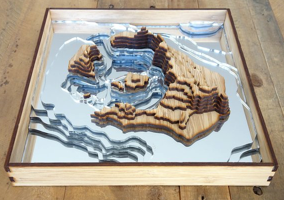 Antler And Pine 5 - Santorini Island 3D Map