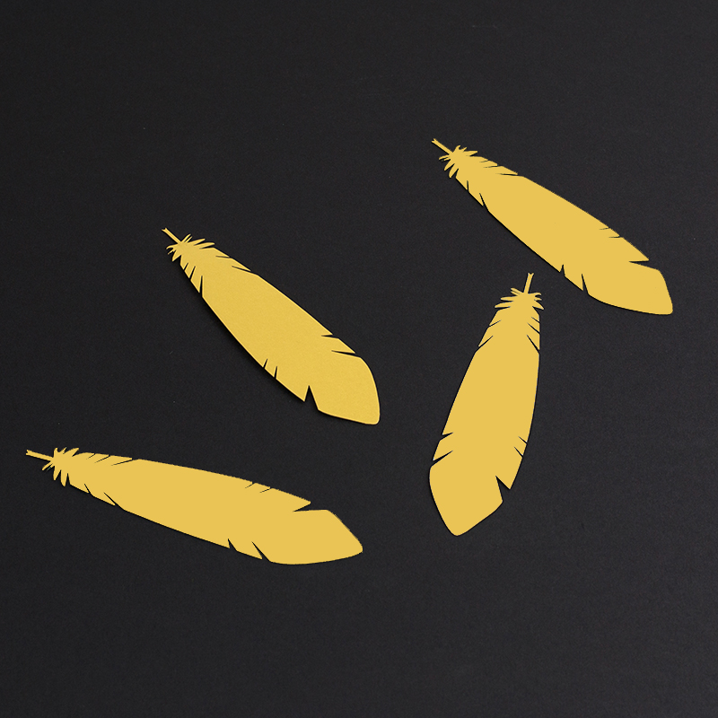 NZ Cardstock Paper 4 - Gold Feather Bookmarks