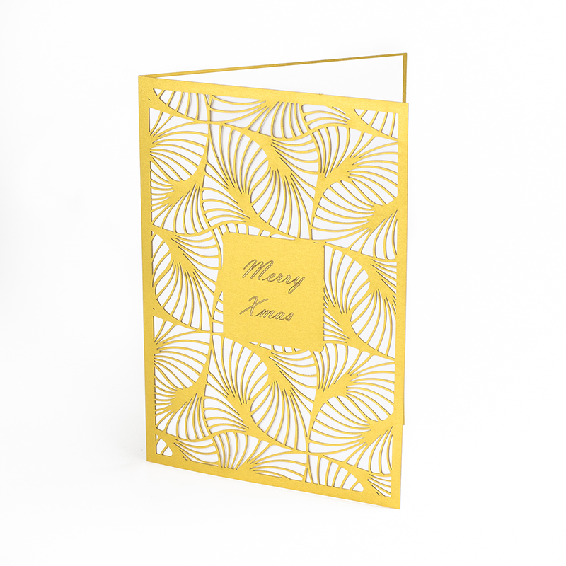 NZ Cardstock Paper 5 - Gold Greeting Card