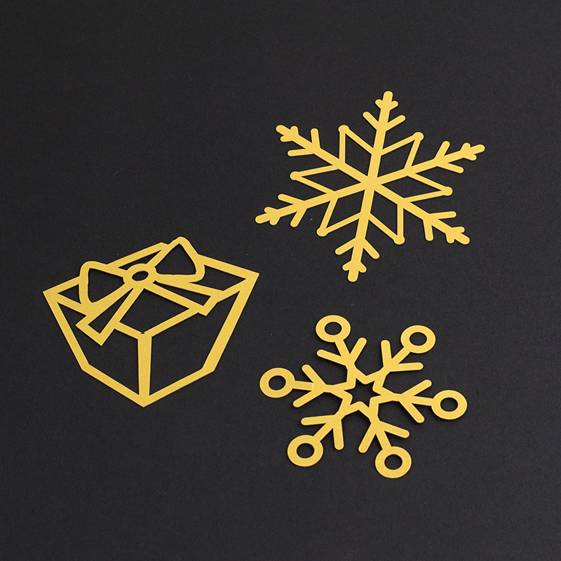 NZ Cardstock Paper 6 - Gold Decorations