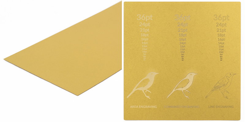 USA Cardstock - Gold Sheet