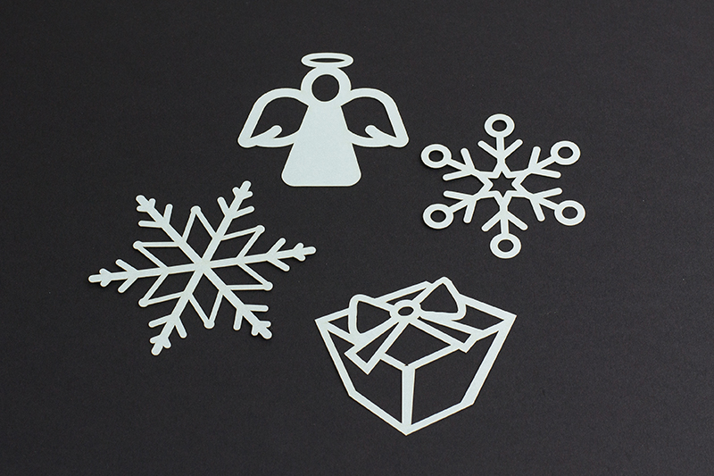 USA Cardstock Paper 11 - Silver Ornaments