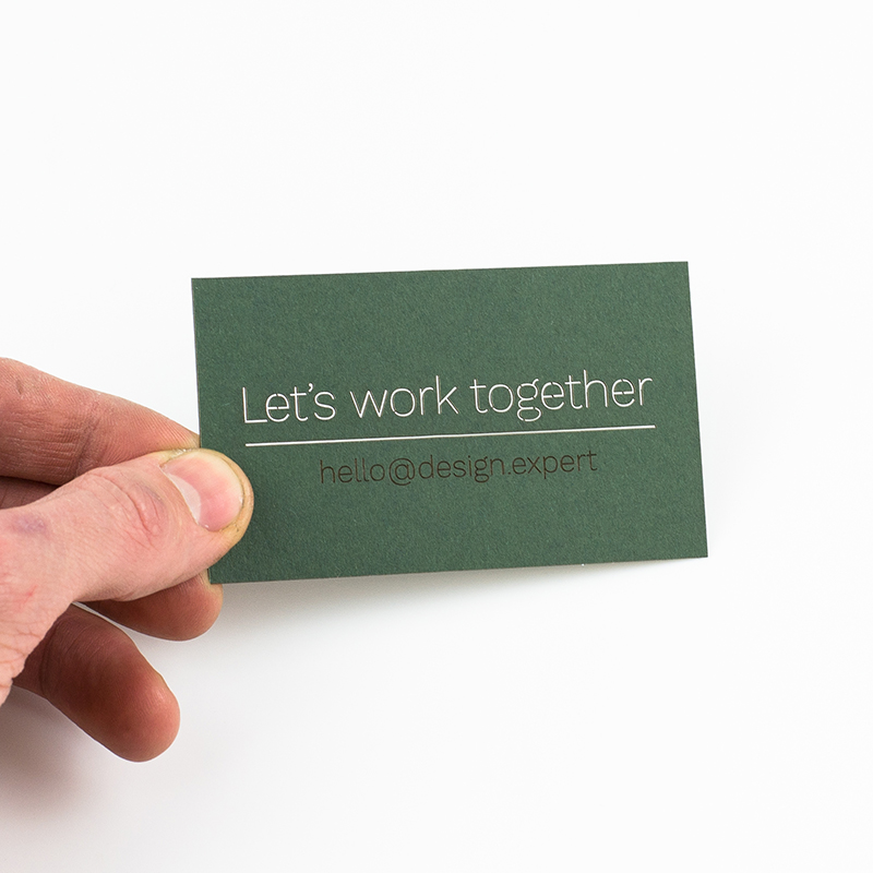 USA Cardstock Paper 6 - Green Business Card
