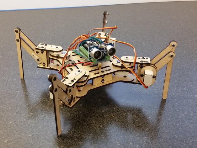 Building A Robot - mePed Quadruped Robot