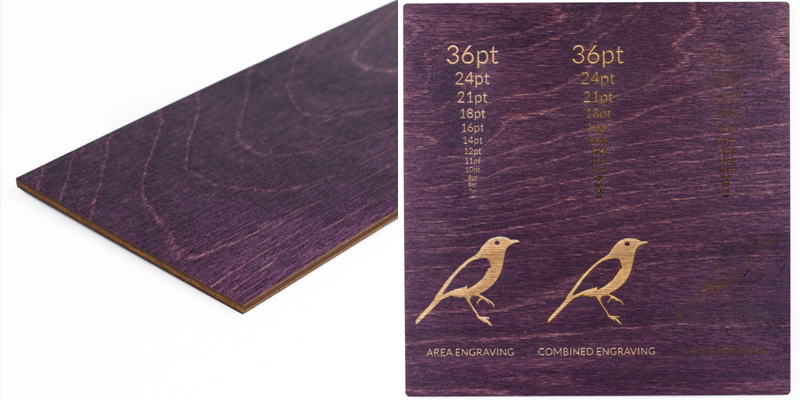 Colored Plywood 13 - Plum Sheet