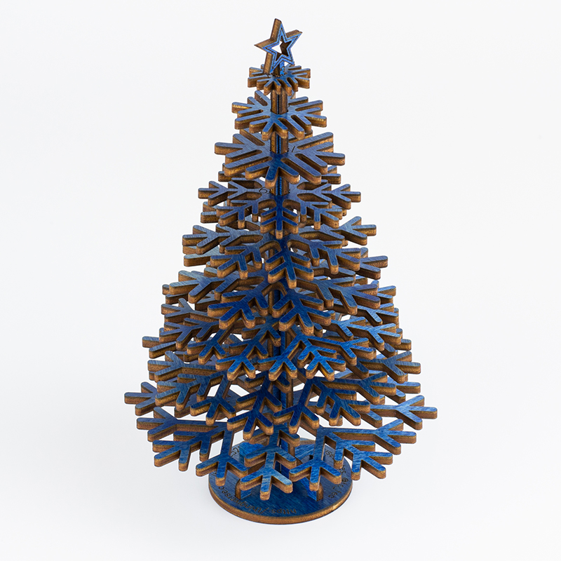 Colored Plywood 2 - Blue Tree