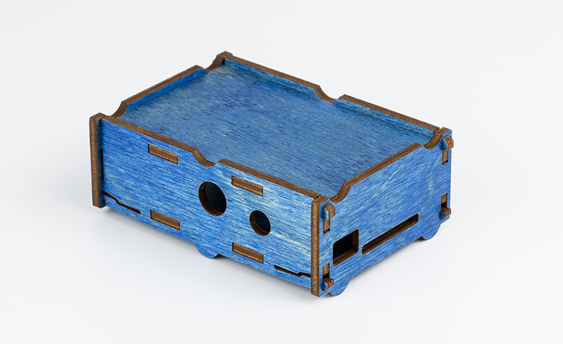 Colored Plywood 4 - Blue Electronics Enclosure