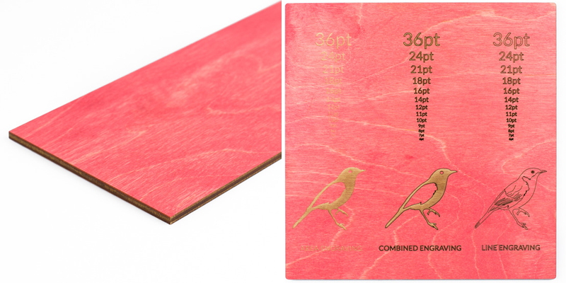 Colored Plywood 9 - Coral Pink Sheet