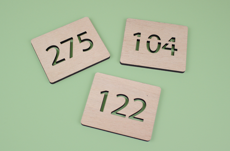 Gaboon Marine Plywood 8 - Numbered Signage