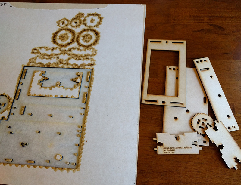 Split-Flap 5 - Laser Cut Parts