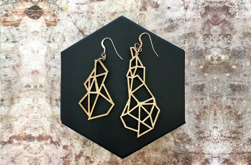Selling Laser Cut Jewelry 3 - YeWon Studios - Glacier Earrings