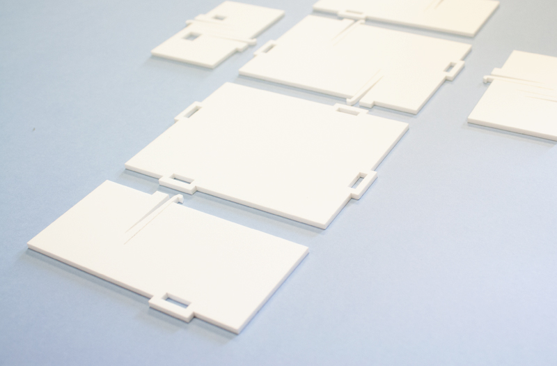 Matte White Acrylic 1 - Laser Cut Parts