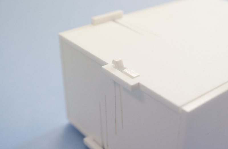 Matte White Acrylic 2 - Electronics Box Clips