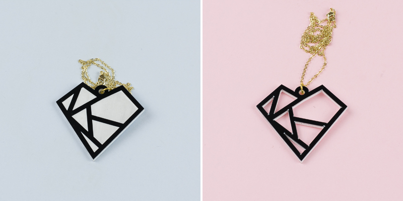 3mm Two-Color Acrylic 3 - Black On White Comparison Cut vs Engrave
