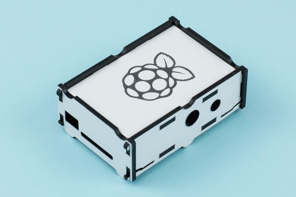 3mm Two-Color Acrylic 4 - White On Black Raspberry Pi Box