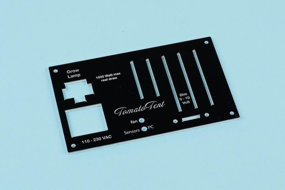 3mm Two-Color Acrylic 5 - Black On White Electronics Panel