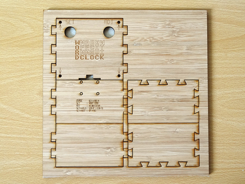 Mark Wilson 3 - Word Clock Bamboo Parts