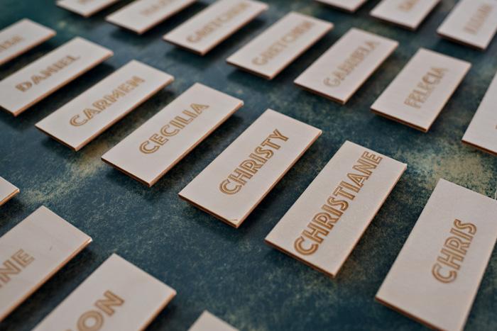 Michelle Edgemont Design 11 - Laser Cut Name Tags